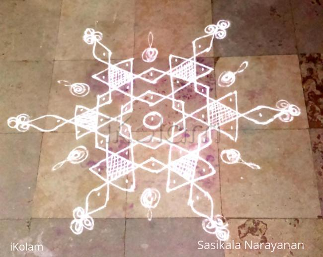 Rangoli: Simple Thai kolam
