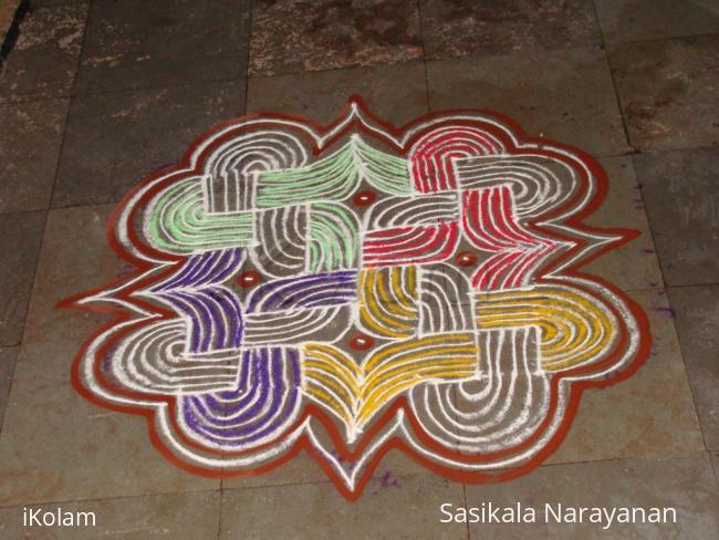 Rangoli: Holi-padi kolam