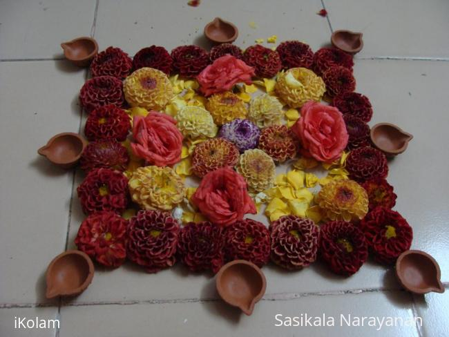 Rangoli: Pookolam on ugadhi