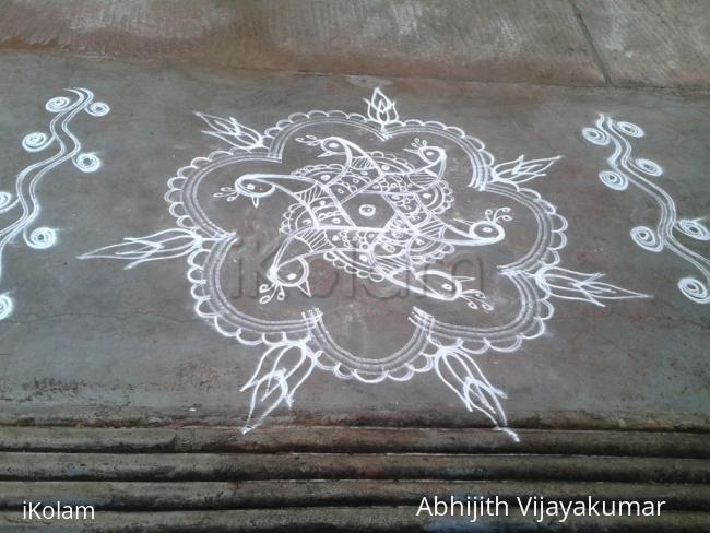 Rangoli: Dancing Peacocks
