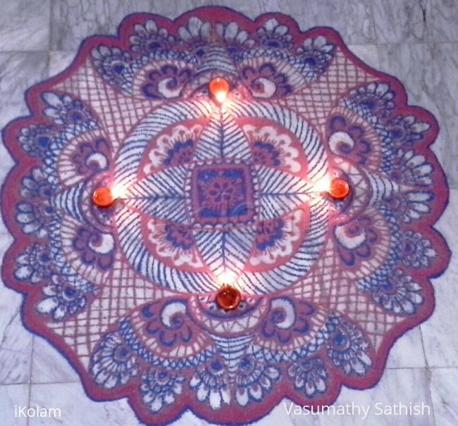 Rangoli: freehand rangoli  with colours