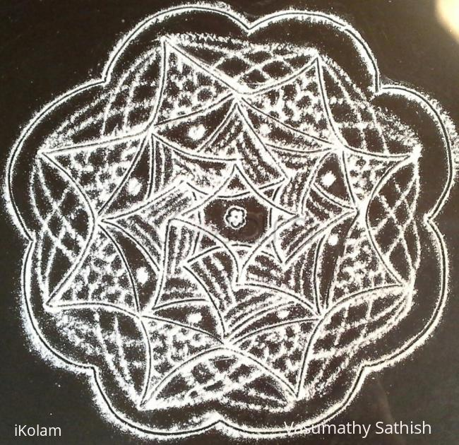 Rangoli: Padi kolam with rice flour