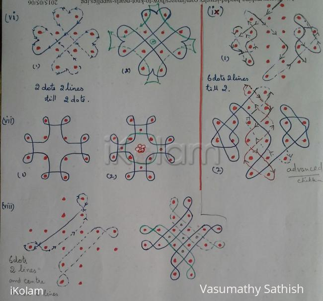 Rangoli: Basic Patterns for Chikku Kolams - 8