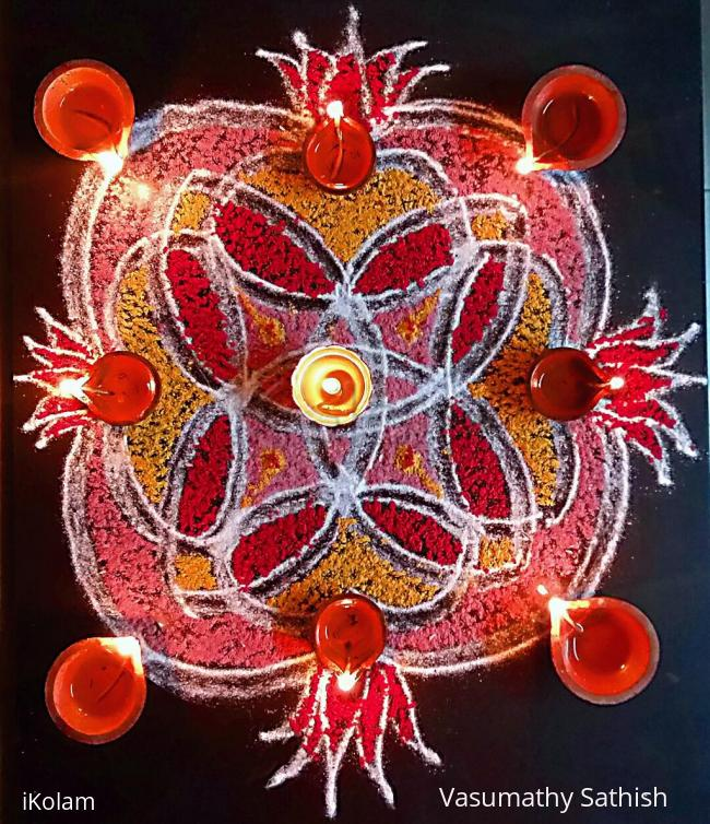 Rangoli: Simple Double Stroke Padi Kolam