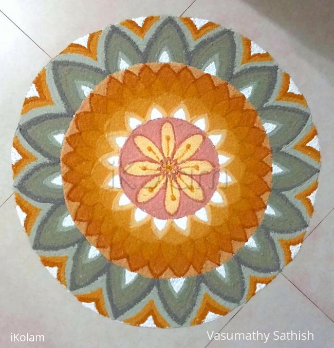 Rangoli: Happy Vasanth Panchami to all.