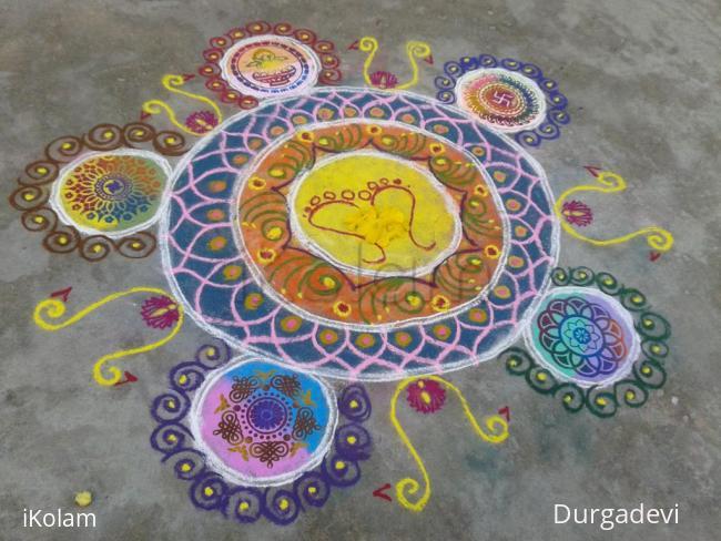 Rangoli: Lakshmi rangoli