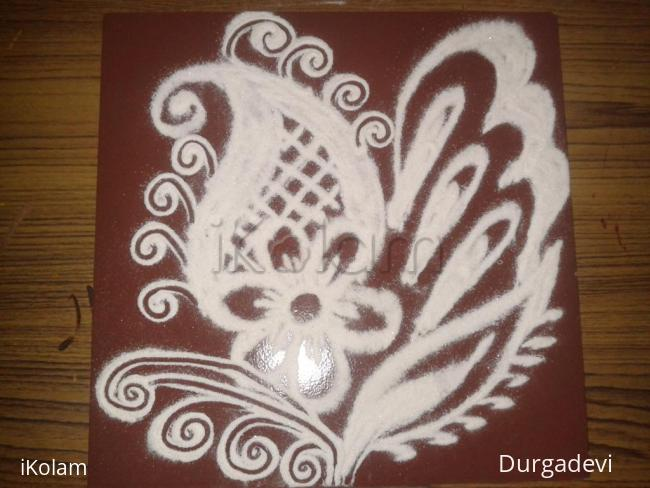 Rangoli: simple design kolam