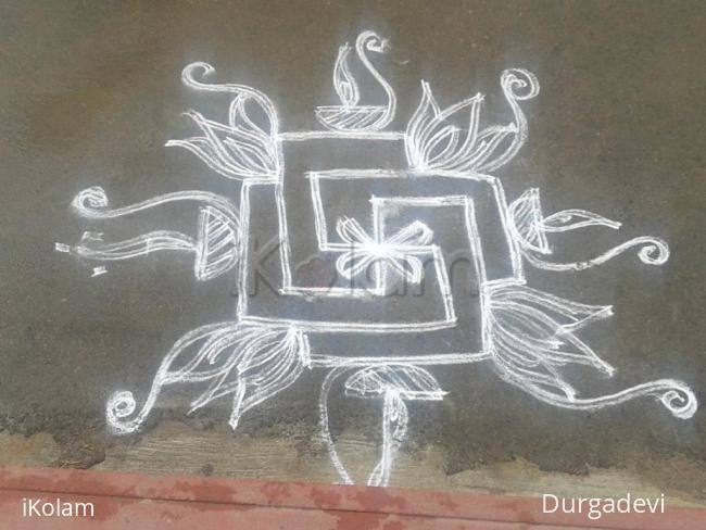 Rangoli: dd daily double stroke kolam