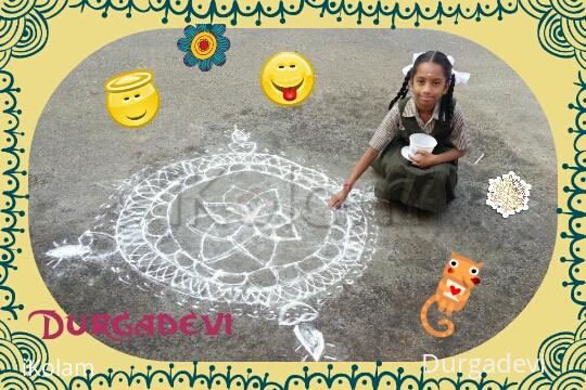 Rangoli: my daughter's special Rangoli