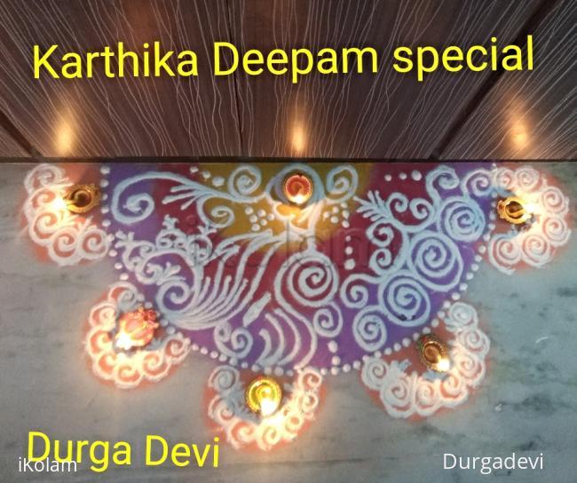 Rangoli: Sanskar barathi Rangoli for Karthigai Deepam special
