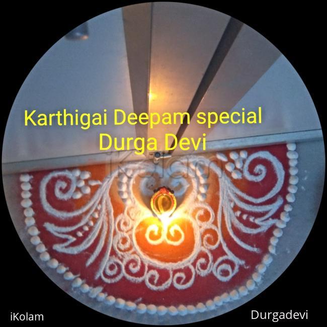Rangoli: Karthigai Deepam special kolam 7