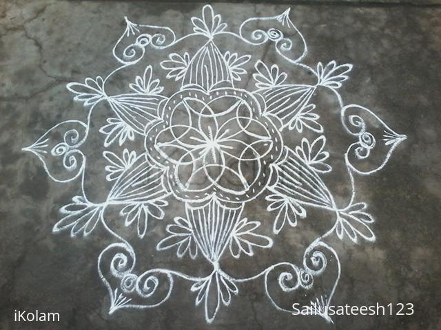 Rangoli: Daily freehand design..
