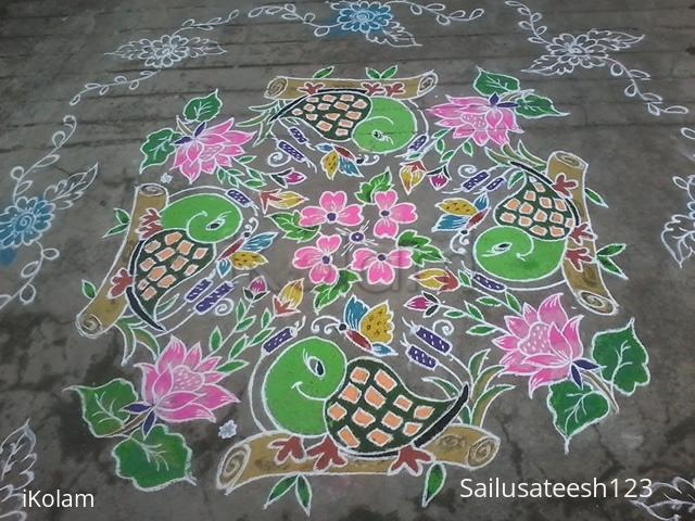 Happy New Year Rangoli 73