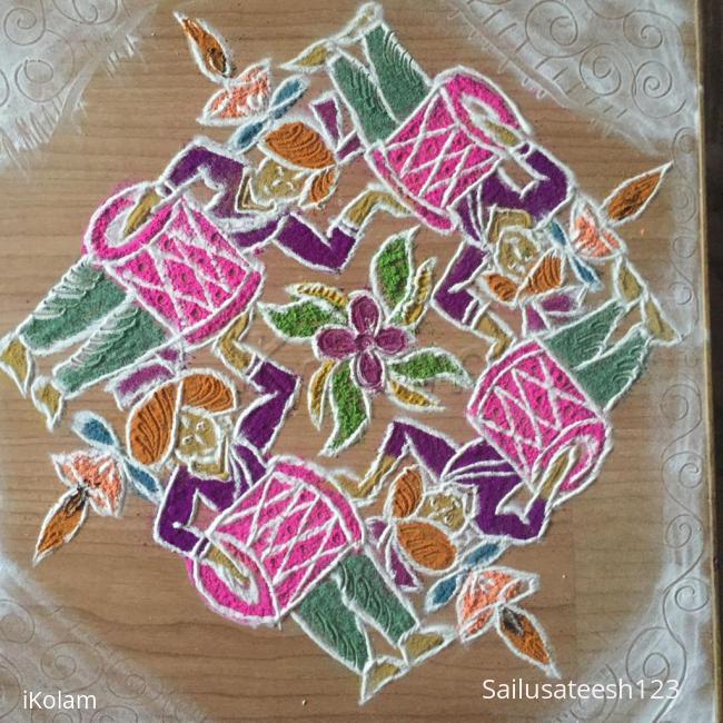 Rangoli: Navratri day 4....