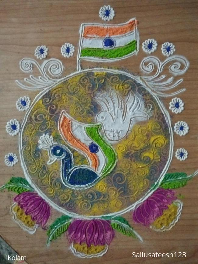 Rangoli: Happy Republic Day...