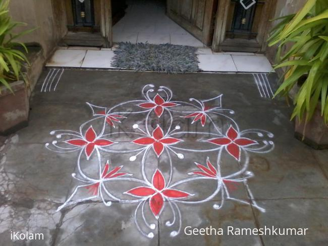 Rangoli: Red beauty