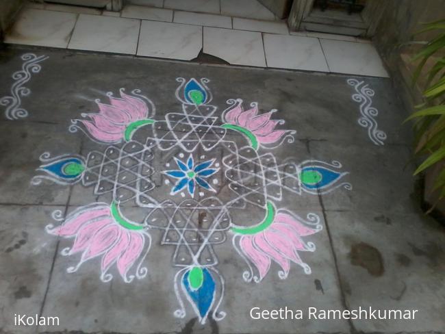 Rangoli: Fusion kolam!