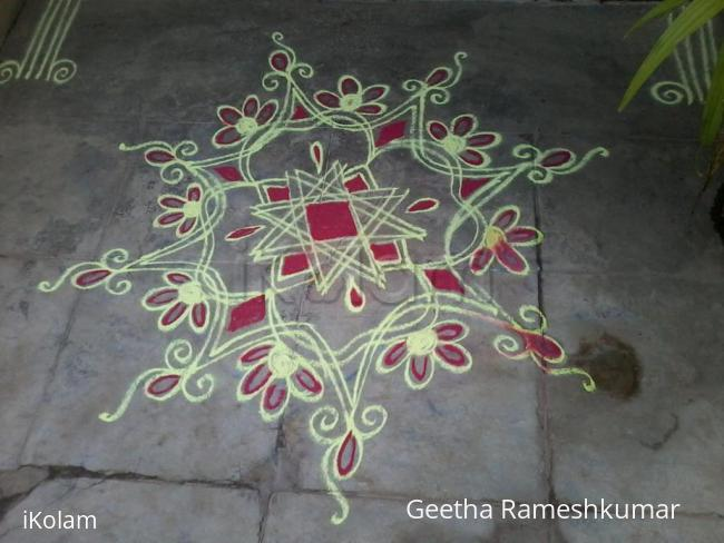 Rangoli: Red and Yellow beauty