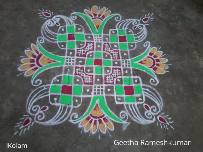 Rangoli: Decorated chikku kolam!