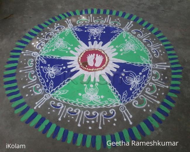 Rangoli: Krishna Jayanthi kolam!