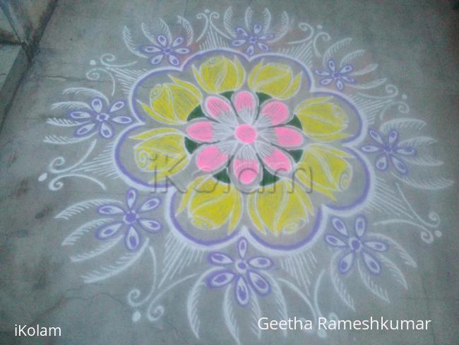 Rangoli: Soft color rangoli!!