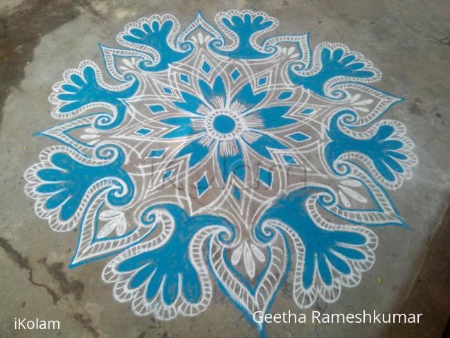 Rangoli: Blue Beauty!!!