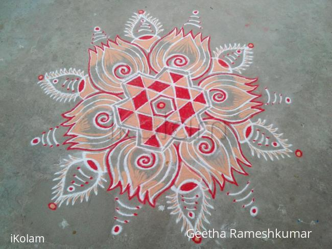 Rangoli: Tuesday kolam!!