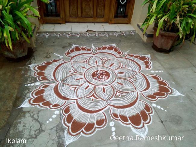 Rangoli: Happy Vinayaga Chathurthi friends!