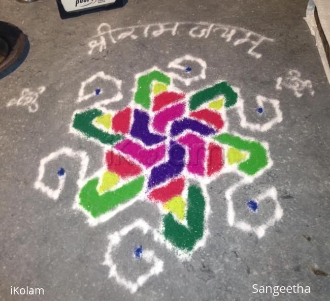 Rangoli: Rose Design Pulli Kolam