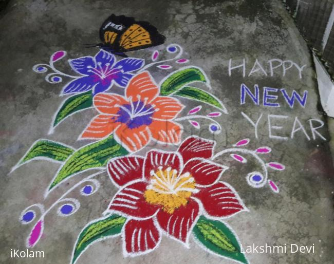 Rangoli: NEW YEAR CREATION.