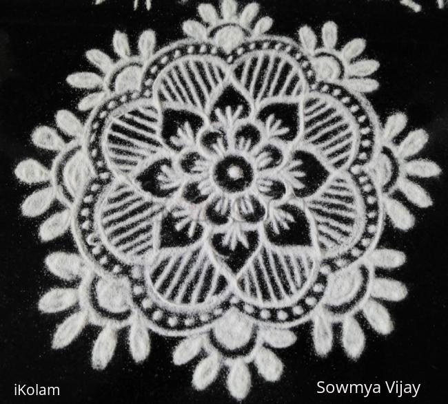 Rangoli: Small Free hand design
