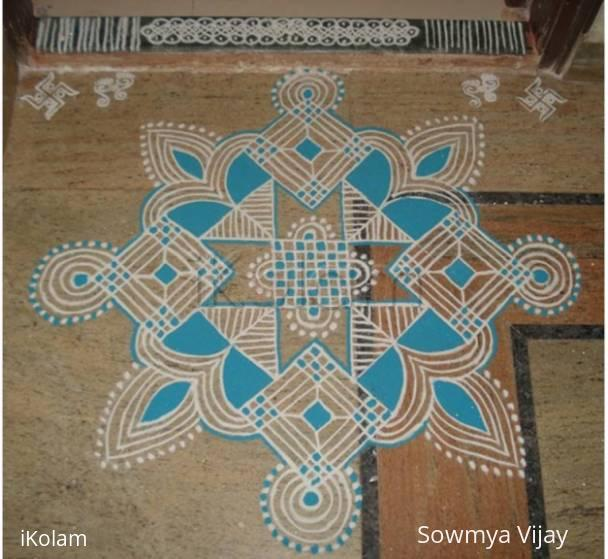 Rangoli: Navaratri Second day kolam