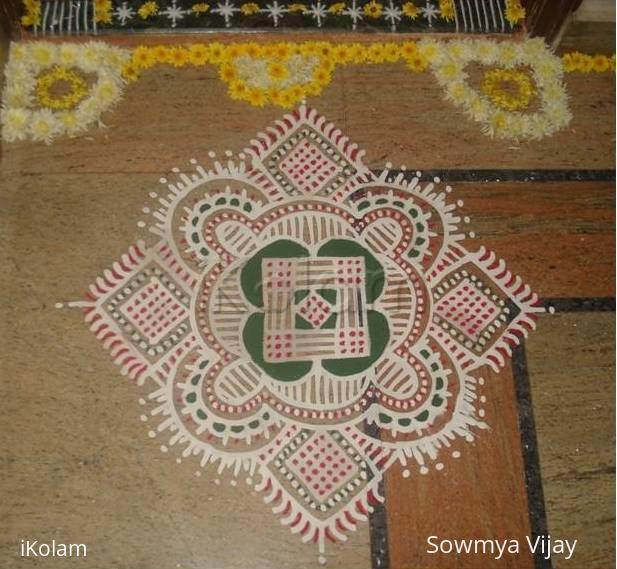 Rangoli: Kolam for Karthigai-1
