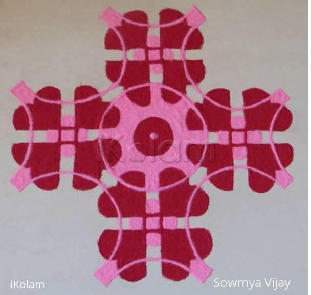 Rangoli: Valentine day Rangoli