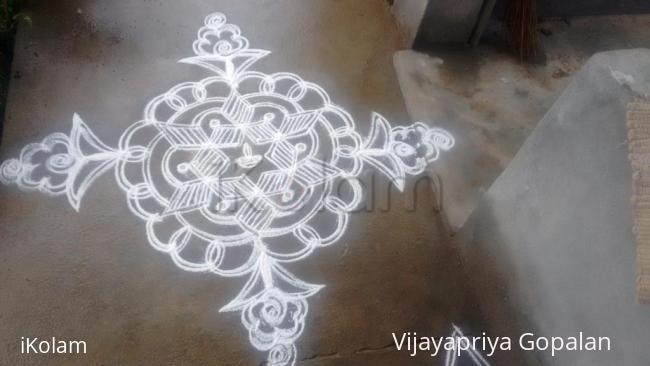 Rangoli: Karthigai special white beauty_2