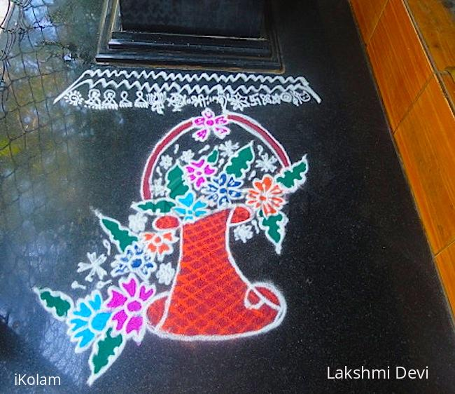 Rangoli: flower basket