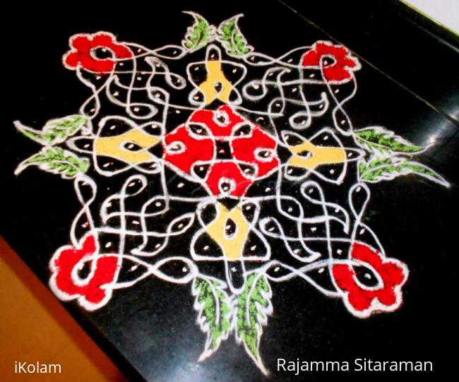 Rangoli: chikkukolam on kitchen top