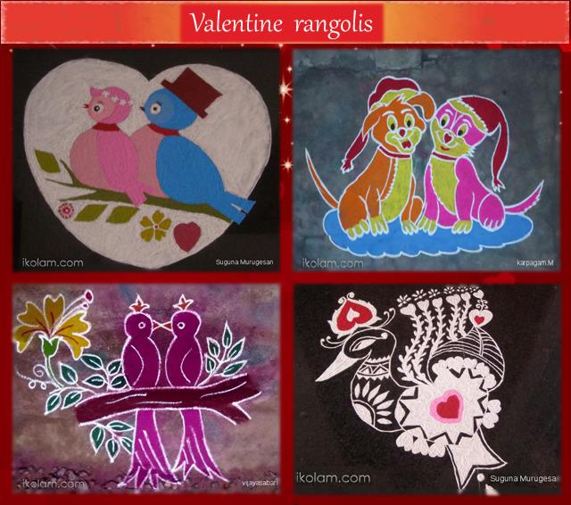 Valentine's day rangolis - Feb 14 - iKolam.com - valentine-page3.png