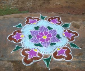 Rangoli: deepam rangoli