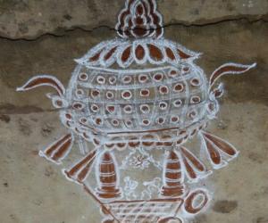 Rangoli: kuptha chariot