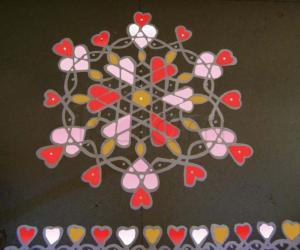 Rangoli: Valentine's Rangoli