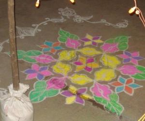 Rangoli: Kolam for wedding