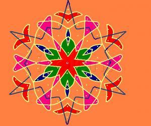 Rangoli: Colorful Chiku Kolam