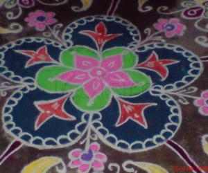 Rangoli: Color rangoli