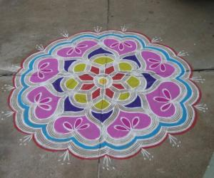 A colourful rangoli