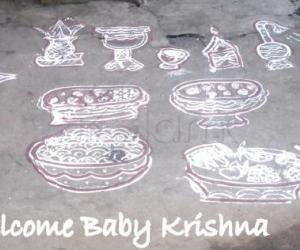 Rangoli: Happy Krishna Jayanthi