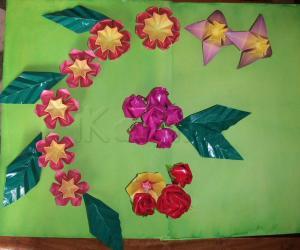 Rangoli: Origami flowers