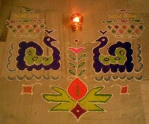 Peacock Rangoli (Margazhi Dew Drops Contest -2010)