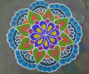 Rangoli: MARGAZHI FLOWERS