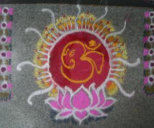 Rangoli: Happy Ganesh Chaturthi